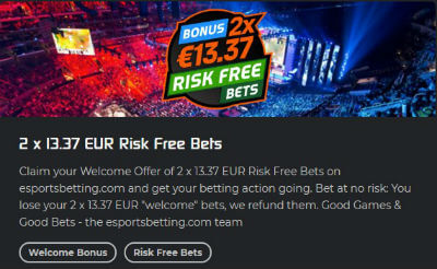 Esportsbetting.com welcome offer