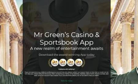 Mobile apps for both Android and iOS at Mr Green